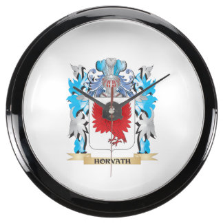 Horvath Coat of Arms - Family Crest Fish Tank Clocks