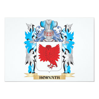 Horvath Coat of Arms - Family Crest 5x7 Paper Invitation Card