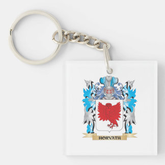 Horvath Coat of Arms - Family Crest Single-Sided Square Acrylic Keychain