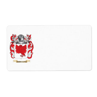 Horvath Coat of Arms (Family Crest) Shipping Label