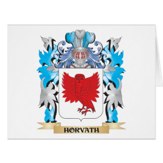 Horvath Coat of Arms - Family Crest Large Greeting Card