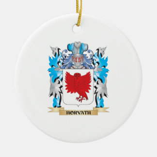 Horvath Coat of Arms - Family Crest Double-Sided Ceramic Round Christmas Ornament