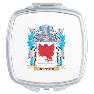 Horvath Coat of Arms - Family Crest Travel Mirrors
