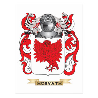 Horvath Coat of Arms (Family Crest) Postcard
