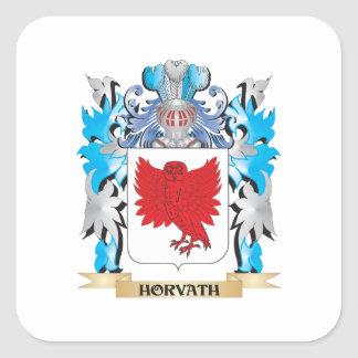 Horvath Coat of Arms - Family Crest Square Sticker
