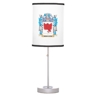 Horvath Coat of Arms - Family Crest Table Lamps