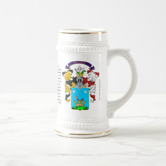 Horvath, the Origin, Meaning and the Crest  Stein 18 Oz Beer Stein