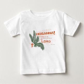 ¡Hosanna! Camiseta cristiana del bebé Playeras