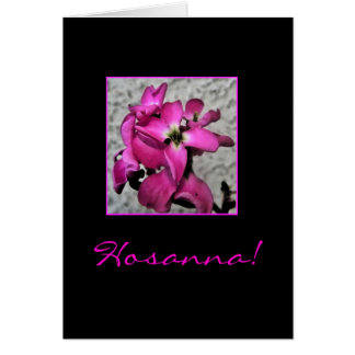 Hosanna Easter floral bible quote card