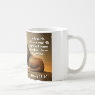 Hosea 11:10 - Christian Coffee Mug