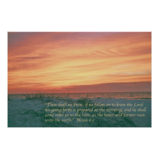 Hosea 6:3 poster