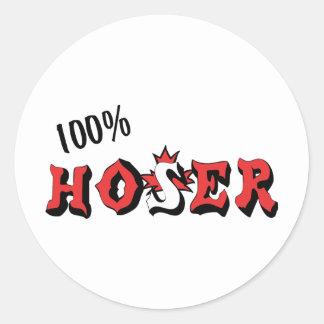 Hoser 100% etiquetas redondas