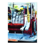 Hoses in Fire Truck Invitation