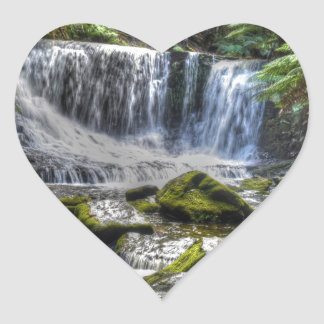 HOSESHOE FALLS TASMANIA WITH ART EFFECTS HEART STICKER