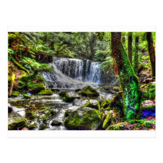 HOSESHOE FALLS TASMANIA WITH ART EFFECTS POSTCARD
