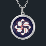 """HOSH SILVER PLATED NECKLACE<br><div class=""""desc"""">This necklace features the HOSH Sign of the Mission of Maitreya. HOSH is an acronym for the first part of our Universal Mantra; Haree Om Shrii Hung which means : &quot;The Goal Of The Life Is To Be(come) Divine.&quot; It is also the middle sign in The Greatest Sign. This HOSH...</div>"""