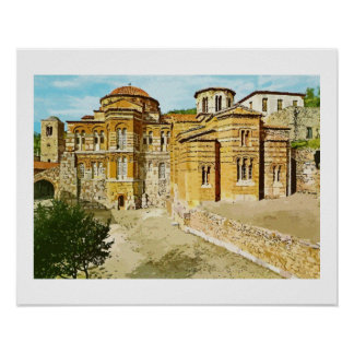 Hosios Loukas monastery Distomo Greece Poster