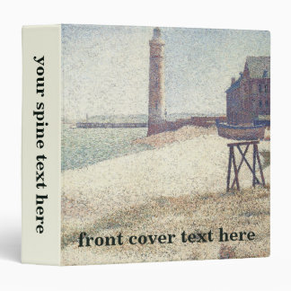 Hospice and Lighthouse at Honfleur by Seurat Vinyl Binders