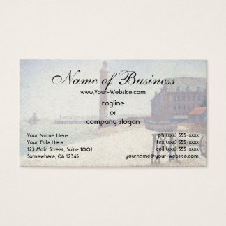 Hospice and Lighthouse at Honfleur by Seurat Business Card