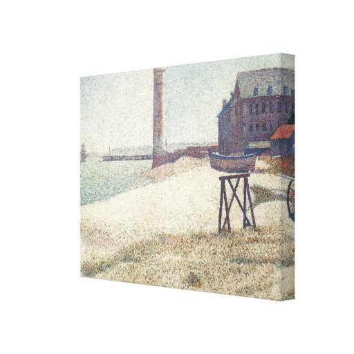 Hospice and Lighthouse at Honfleur by Seurat Canvas Prints