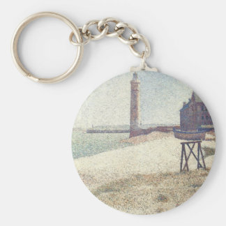 Hospice and Lighthouse, Honfleur by Georges Seurat Keychain