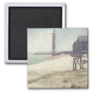Hospice and Lighthouse, Honfleur by Georges Seurat Magnet