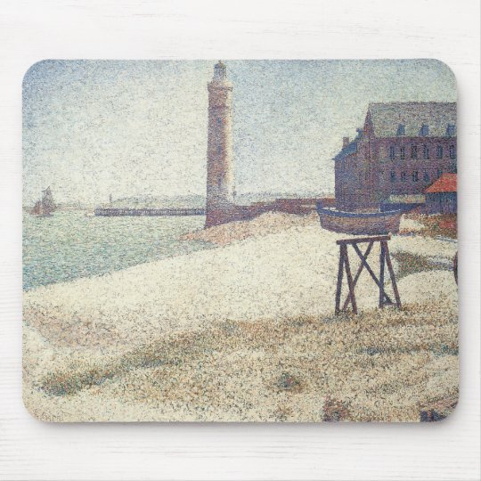 Hospice and Lighthouse, Honfleur by Georges Seurat Mouse Pad