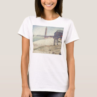 Hospice and Lighthouse, Honfleur by Georges Seurat T-Shirt