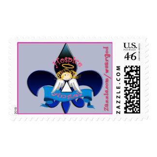 Hospice Angel Fleur de lis stamp