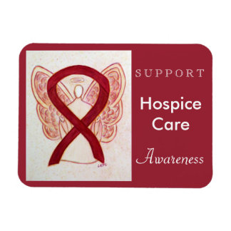 Hospice Care Awareness Ribbon Angel Magnet