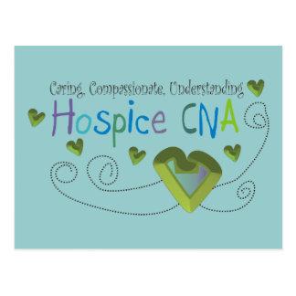 Hospice CNA Green Hearts Post Cards