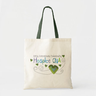 Hospice CNA Green Hearts Tote Bag