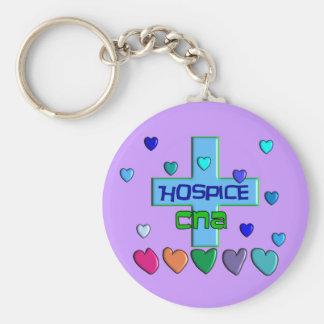 Hospice CNA Multi Hearts Design Keychain