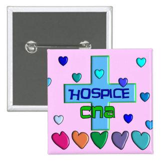 Hospice CNA Multi Hearts Design Pinback Button