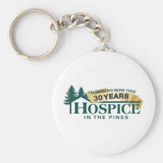 Hospice In The Pines Round Keychain