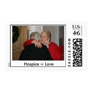 Hospice = Love Postage Stamps