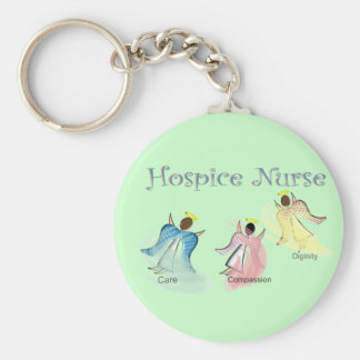 Hospice Nurse 3 Angels Design Keychain