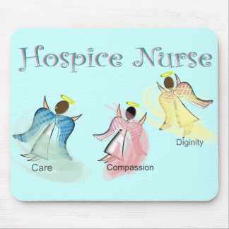 Hospice Nurse 3 Angels Design Mouse Pad
