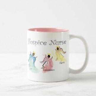 Hospice Nurse 3 Angels Design Mugs