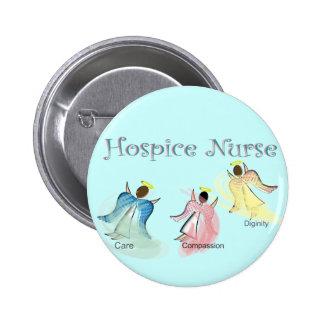 Hospice Nurse 3 Angels Design Pinback Button