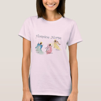 Hospice Nurse 3 Angels Design T-Shirt
