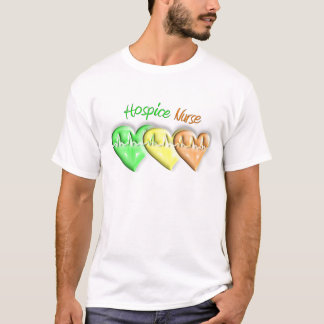 Hospice Nurse 3D Hearts T-Shirt