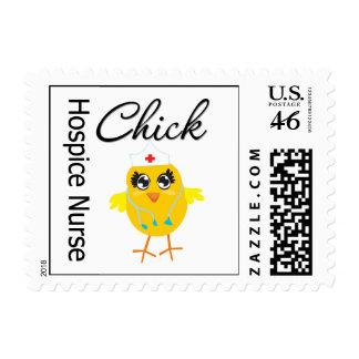 Hospice Nurse Chick v1 Stamp