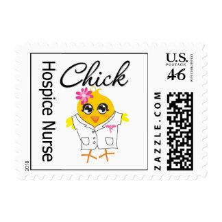 Hospice Nurse Chick v2 Postage Stamps