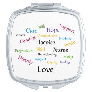 Hospice Nurse Compact Mirror Makeup Mirrors