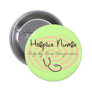 "Hospice Nurse ""Dignity Care Compassion"" Pinback Button"