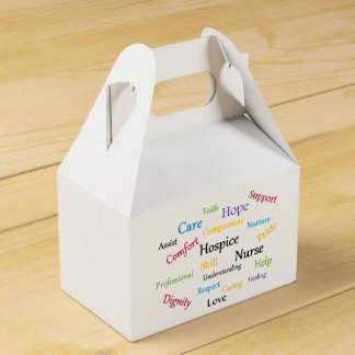 Hospice Nurse Gable Favor Box