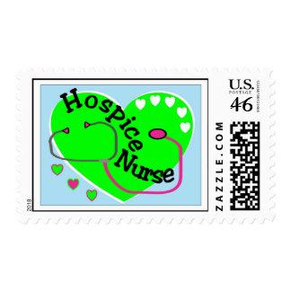Hospice Nurse GREEN HEART STETHO Postage stamp