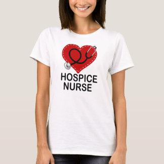 Hospice Nurse Heart Stethoscope T-Shirt