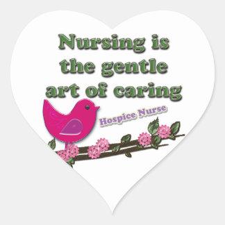 Hospice Nurse Heart Sticker